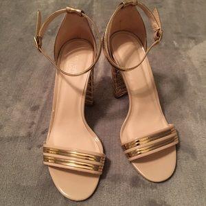 Charlotte Russe Rose Gold/Nude Heels